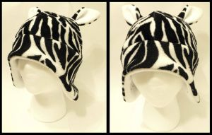 Zebra Hat by CosmicalFox