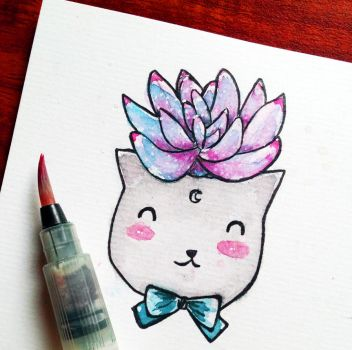 Special Cat Sticker by vi4art