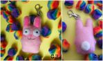 Sims Freezer Bunny Plush Keyring by TheChgz