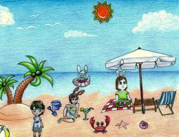 Beach Party~!!^^^ by xXPetunia-I-Luv-UXx