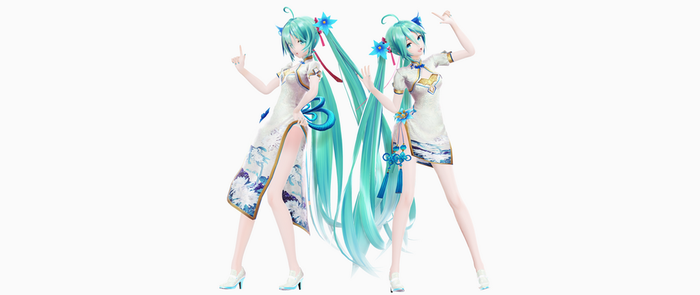 [MMD/DL] YYB 10th China Dress ! [model/dl] by BrightShadowMMD