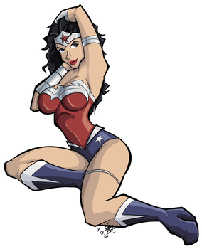 Wonder Woman Pinup by Samplenote