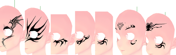 MMD Dragon Age Face Tattoo Download by Entzminger500