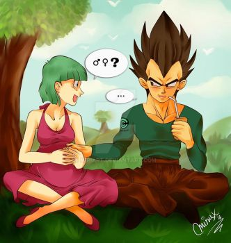 Vegeta and Bulma by MiriArt