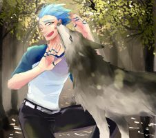 mordecai and wolf by GAN-91003