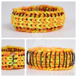 Sailor Pinstripe Rainbow Loom Hot Fire by MissTopaz