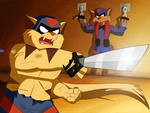 SWAT Kats - Sword Fight by coDDRy