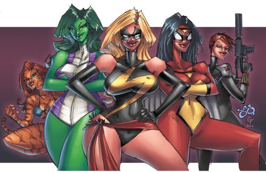 She-Avengers coloring colors by jasinmartin