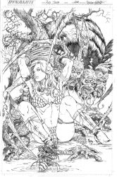 Red Sonja spider cover by Adrianohq