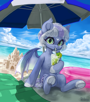Beach [YCH] by GrayPillow