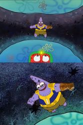 Spongebob edit Thanos chase Vision by CyotheLion