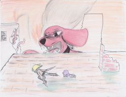 Attack on Big Red Dog by Streled