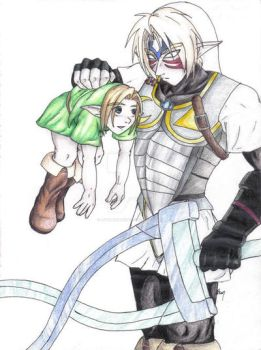 Link and Oni Link : Runt by LittleMarin