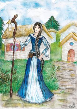 Nynaeve al'Meara watercolor by ElenaZambelli