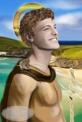 Saint Cainnech of Aghaboe by Tricia-Danby