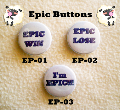 Epic Buttons by sweetsheepstudio