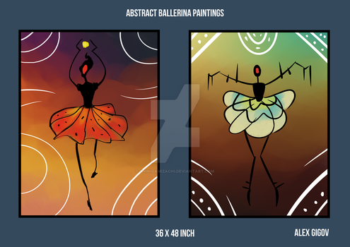 Abstract Ballerina Commission by shinigamizachi