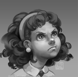 displesed girl by sparrow-chan