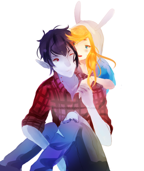 Marshall Lee And Fionna by musicalscribble
