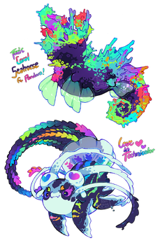 [Closed] Color Spray Pacapillars (+ Auction) by toripng