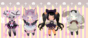 Spoopy Cutie Adopties (Closed) by puddinprincess