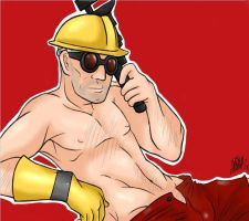 Team Fortress 2 Pinup Engineer by doktorzara