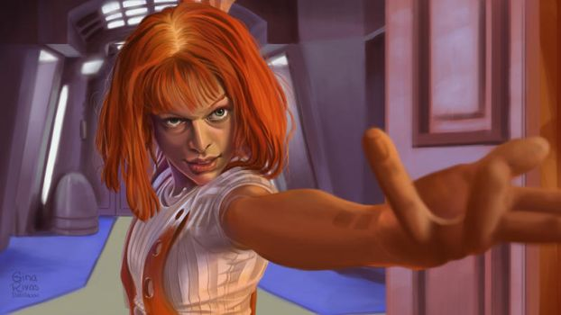 Leeloo. Color study. by GinaIlustra