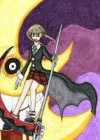 Maka and that Eerie Moon by goategon