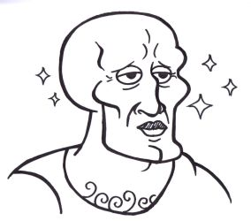 Handsome Squidward by Windam