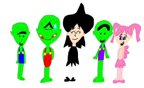 Lucy, Rose, Terence, Timmy, and Tommy. by NickEinsteins4Life