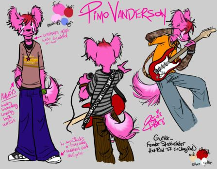 Pimo Vanderson Character Sheet by beanie