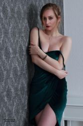 Henriette in a green dress 19 by PhotographyThomasKru