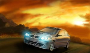 BMW 330i in environment by reedesigner