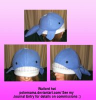 Wailord hat by PokeMama