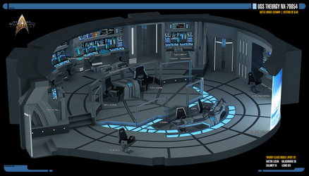 USS Theurgy NX-79854 Battle Bridge (Cut-Away View) by Auctor-Lucan