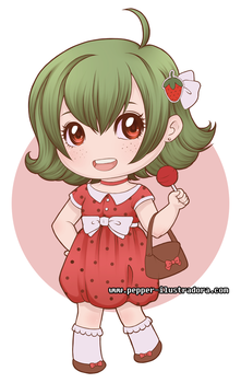 Chibi Strawberry by SugarPepper