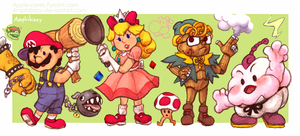 Super Mario RPG + Earthbound Crossover by Amphibizzy