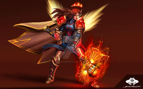 ...Commission: Blood Elf Paladin III... by ShadowPriest