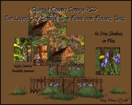 Fantasy Cottage PSD 2 Layers by briarmoon-stock