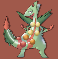 Mega Sceptile by ice-cream-skies