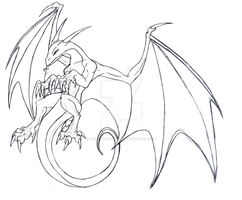 Cliff Dragon - sketch by Aniseth-LightWing