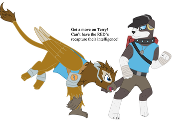 The two BLU Scouts by vildtiger