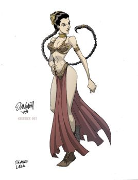 Slave Leia color by RyanOdagawa