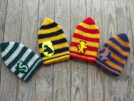 Harry Potter Beanies by TheCrochetDragon