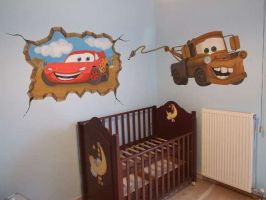 disney cars mural by Theatricalarts