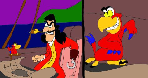 Captain Hook and Iago by SammyD-Productions