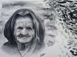 Traditional Art - Grandma Watercolor by DaniNaimare