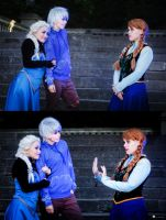 Elsa, Jack and Anna by NunnallyLol