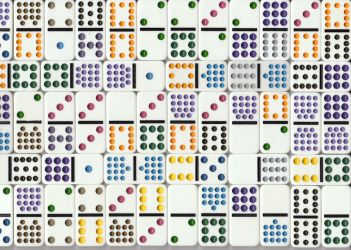 Colored dominoes by Lynnie1