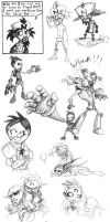 Lots of old N. Team sketches by JenL